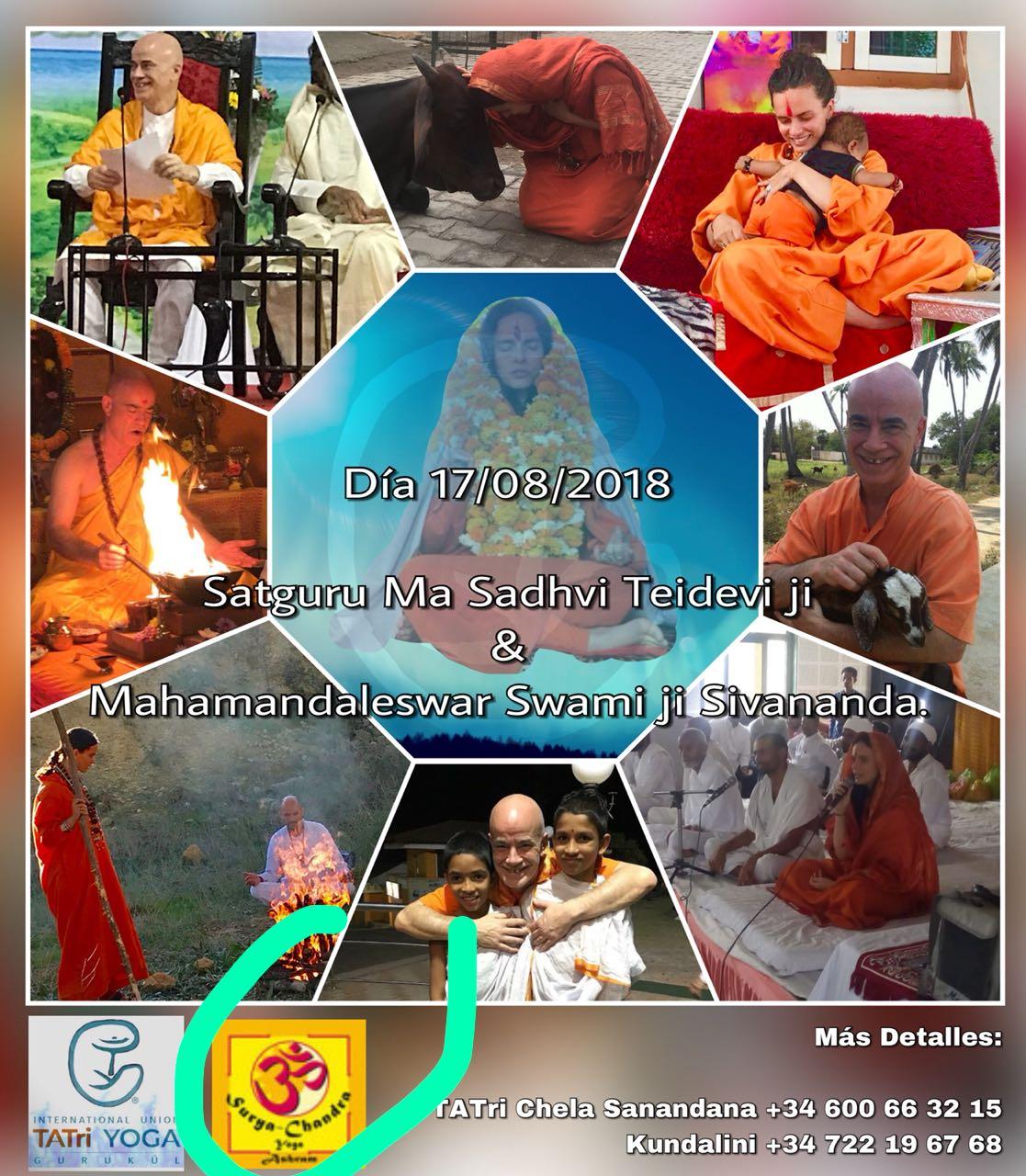 Satguru MA Sadhvi Tridevi Ji & Mahamandaleswar Swamiji Sivananda